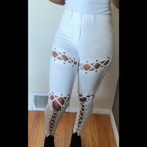 Pants - Lace Up Leggings